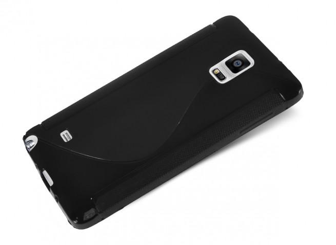 Coque Samsung Galaxy Note Edge Silicone Grip-Noir