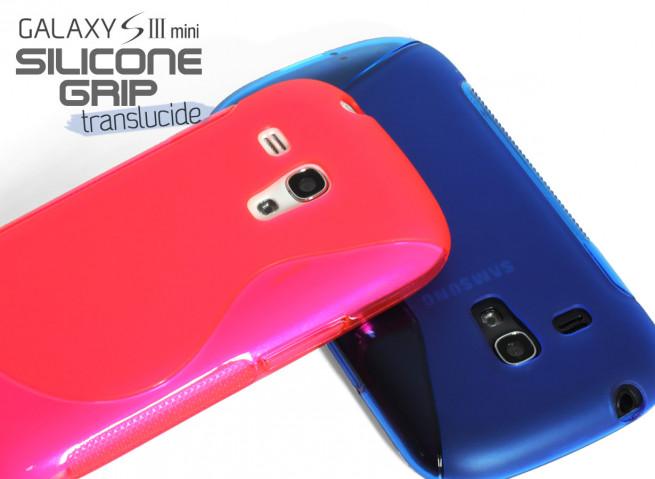 Coque Samsung Galaxy S3 mini Silicone Grip Color