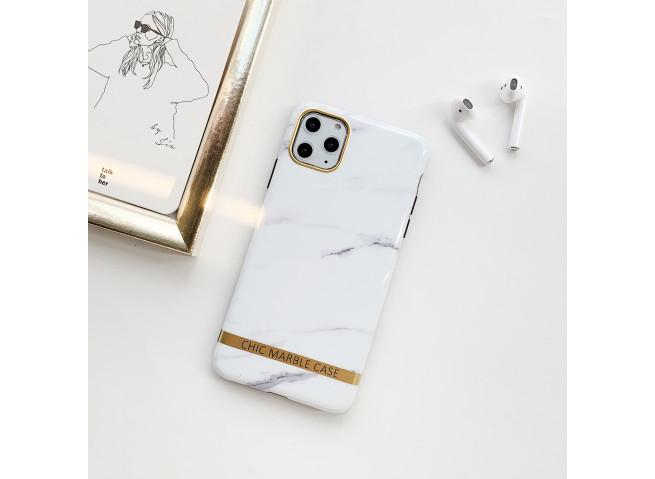 Coque iPhone 7/8/SE 2020 Silicone Marble White