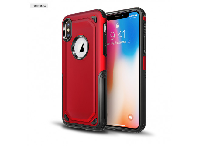 Coque iPhone XS Max No Shock Case-Rouge