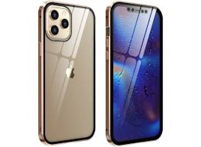 Coque iPhone 12/12 Pro Metal Clear Gold
