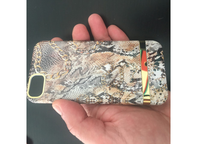 Coque iPhone X/XS Gold Snake