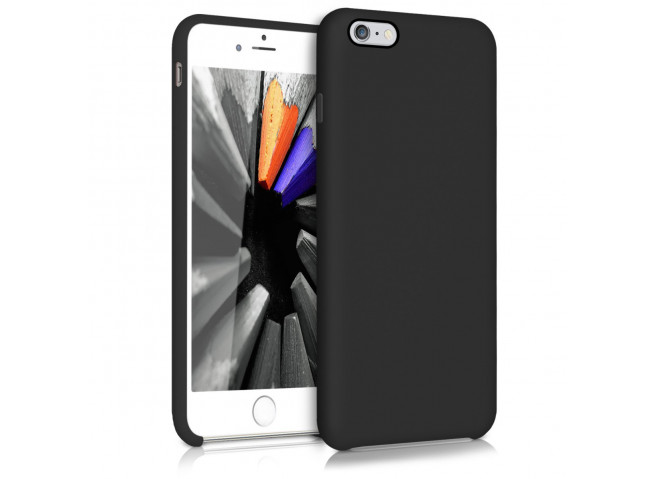 Coque iPhone 6/6S Silicone-Noir