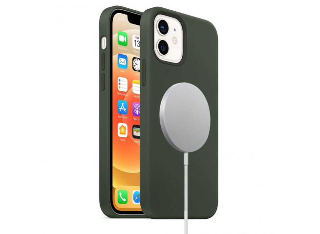 Coque iPhone 12 TPU Compatible MagSafe-Noir