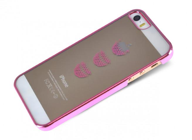Coque iPhone 5/5S Apple Panier-Rose