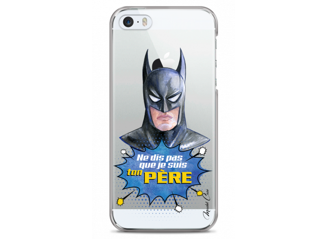 Coque iPhone 5/5s/SE Batman watercolor masque