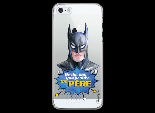 Coque iPhone 5C Batman watercolor masque