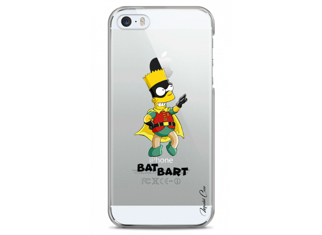 Coque iPhone 5C Super Bat Bart Simpson cartoon design