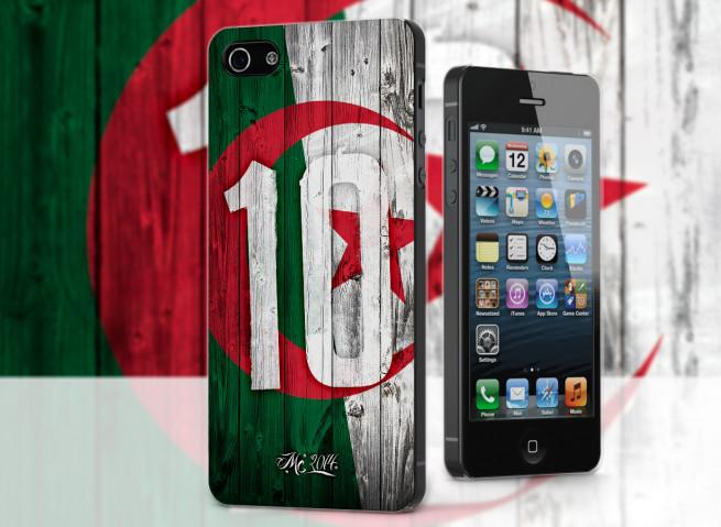 Coque iPhone 5/5S Coupe du Monde 2014-Algérie