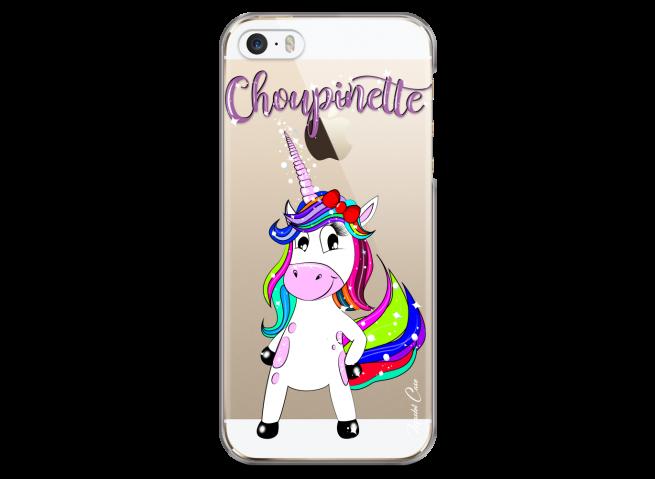 Coque iPhone 5/5s/SE Licorne Choupinette