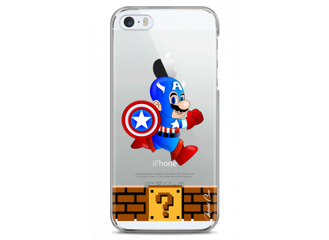 Coque iPhone 5/5S/SE Mario Captain