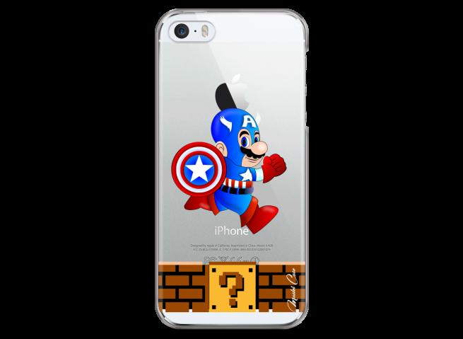 Coque iPhone 5C Mario Captain