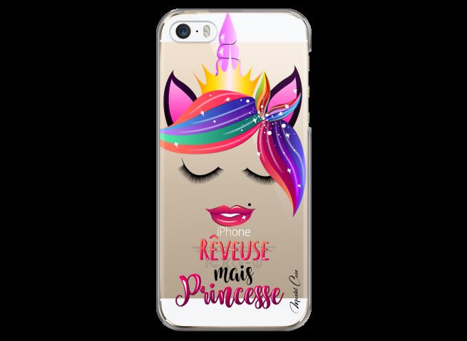 Coque iPhone 5C Rêveuse mais Princesse