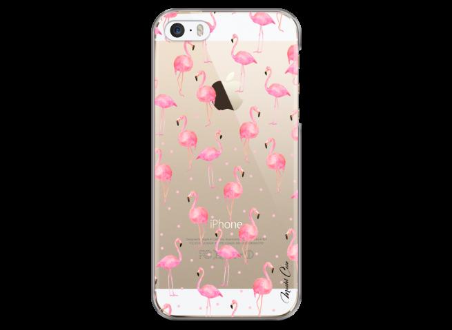 Coque iPhone 5C Summer flamingo pattern