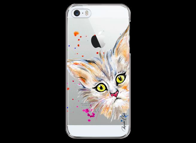 Coque iPhone 5/5s/SE Summer watercolor cat