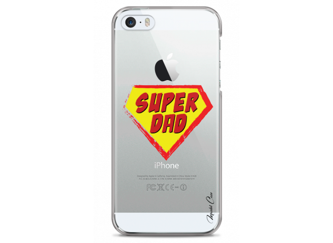 Coque iPhone 5C Super Dad - design