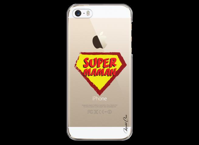 Coque iPhone 5/5s/SE Super Maman - design