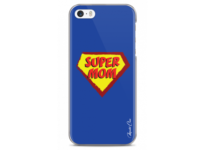 Coque iPhone 5/5s/SE Super Mom - blue design