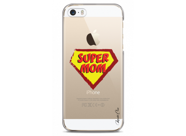 Coque iPhone 5/5s/SE Super Mom - design