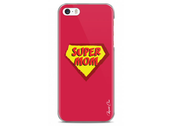 Coque iPhone 5/5s/SE Super Mom - red design