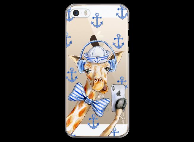 Coque iPhone 5/5s/SE Watercolor Marine Giraffe