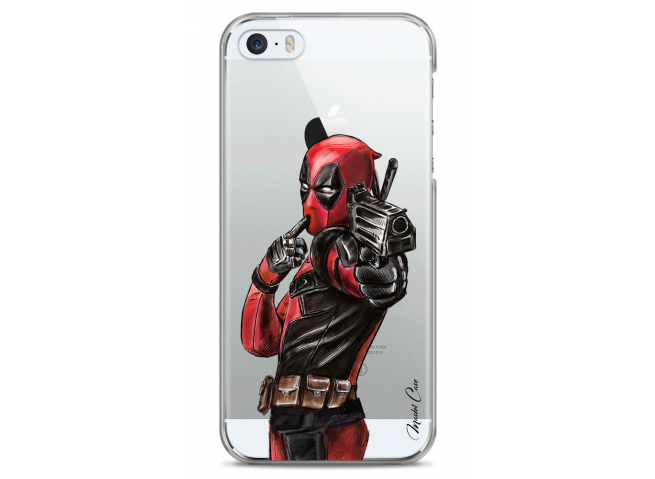 Coque iPhone 5/5s/SE Deadpool 2 Watercolor design