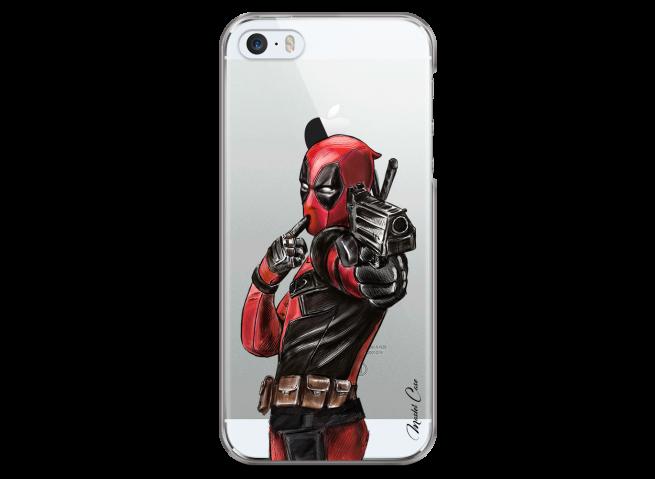 Coque iPhone 5C Deadpool 2 Watercolor design