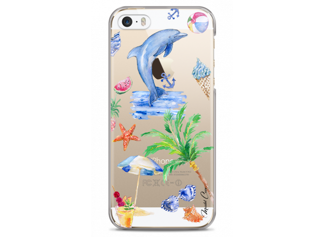Coque iPhone 5C Summer watercolor pattern sea