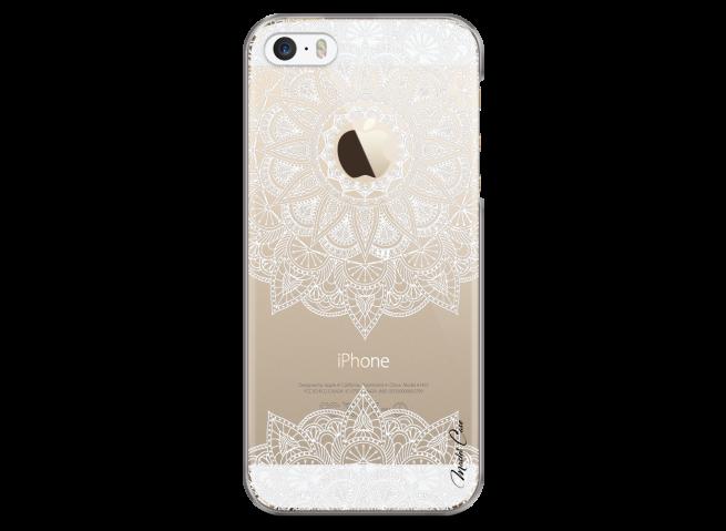 Coque iPhone 5/5s/SE White Mandala design