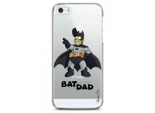 Coque iPhone 5C Super Bat Dad Simpson cartoon design