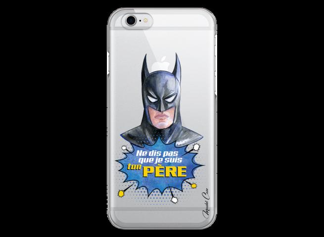Coque iPhone 6Plus/6SPlus Batman watercolor masque