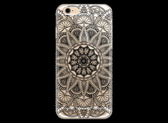 Coque iPhone 6/6S Black Mandala