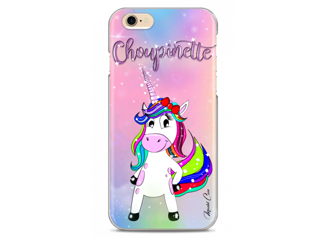 Coque iPhone 6Plus/6SPlus Licorne Choupinette design