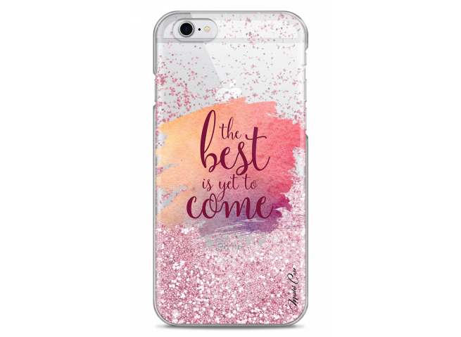 Coque iPhone 6Plus/6SPlus Pink glitter The best is yet to come