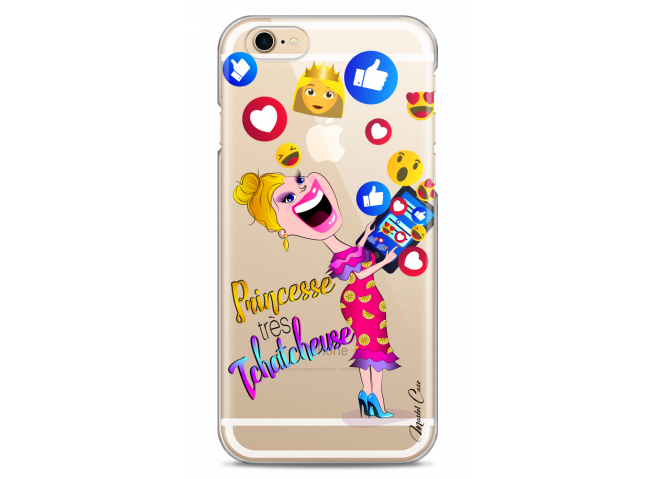 Coque iPhone 6/6S Princesse très Tchatcheuse