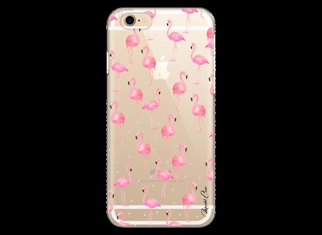 Coque iPhone 6Plus/6SPlus Summer flamingo amor