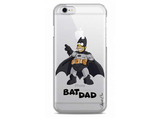 Coque iPhone 6/6S Super Bat Dad Simpson cartoon design