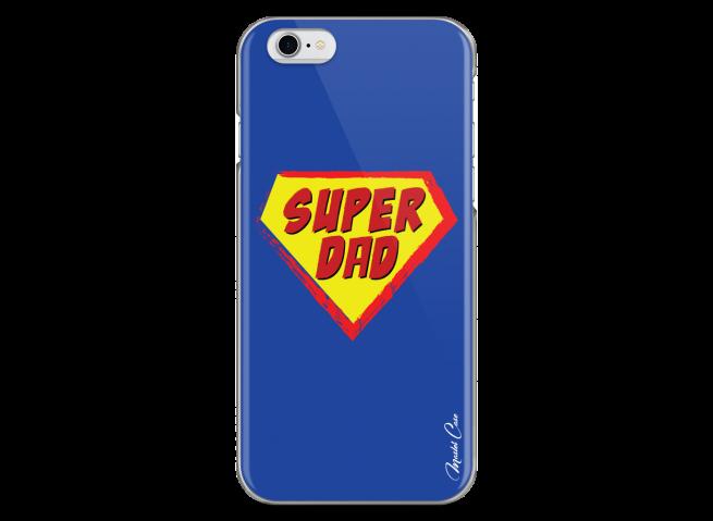 Coque iPhone 6/6S Super Dad - blue design