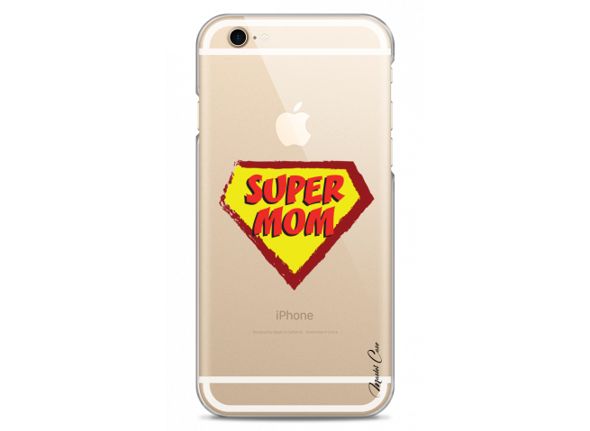 Coque iPhone 6Plus/6SPlus Super Mom - design