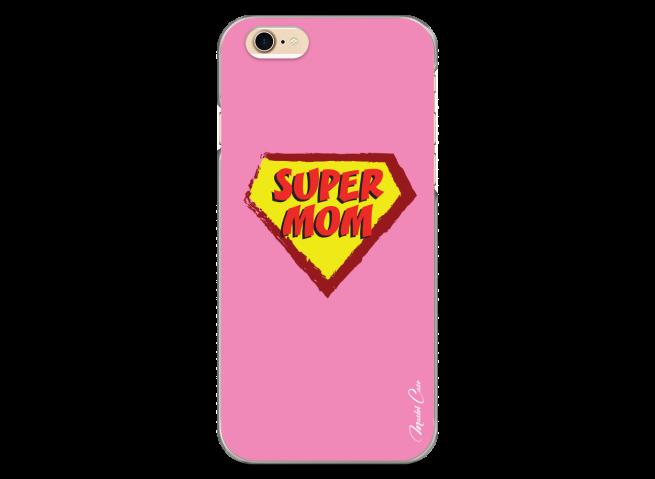 Coque iPhone 6/6S Super Mom - pink design