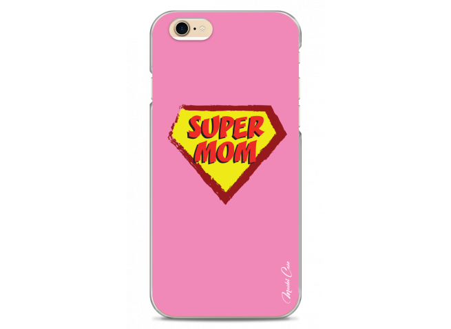 iPhone 6Plus/6SPlus Super Mom - pink design