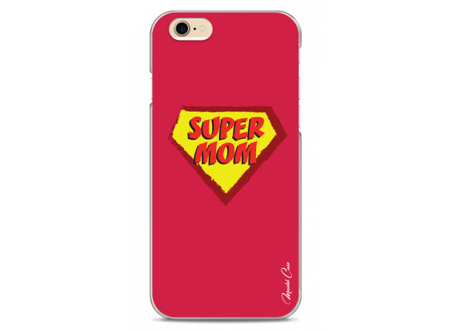 Coque iPhone 6/6S Super Mom - red design