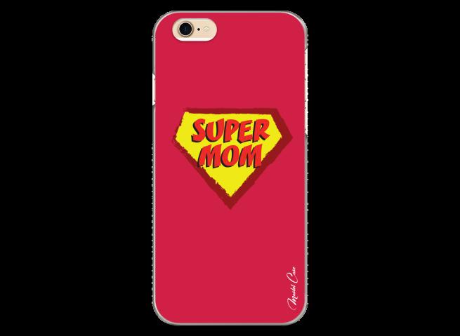 Coque iPhone 6Plus/6SPlus Super Mom - red design