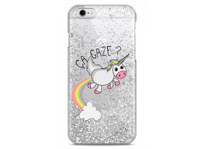 Coque iPhone 6Plus/6SPlus Silver glitter Ça gaze
