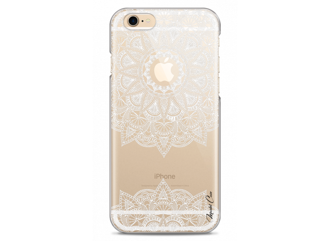 Coque iPhone 6/6S White Mandala design