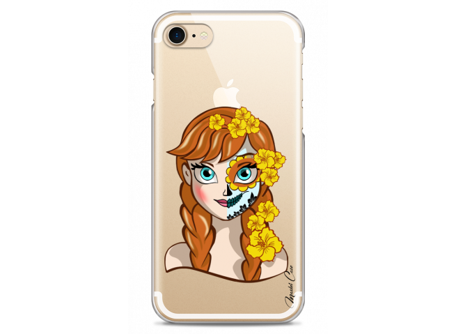 Coque iPhone 7/8 Anna walt Disney face design