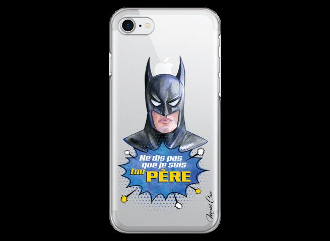 Coque iPhone 7/8 Batman watercolor masque