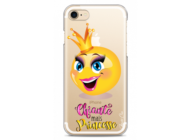 Coque iPhone 7Plus/8Plus Chiante mais Princesse