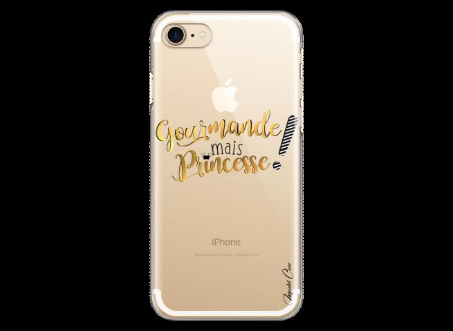 Coque iPhone 7/8 Gourmande mais Princesse