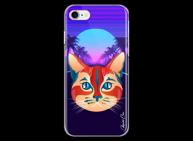 Coque iPhone 7/8 Gradient cat design